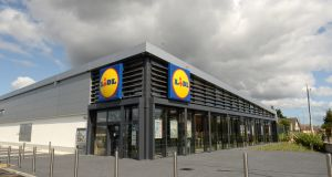 The newly-refurbished Lidl store on Fortunestown Lane in Tallaght which opens on Thursday. Photograph: Dara Mac Donaill