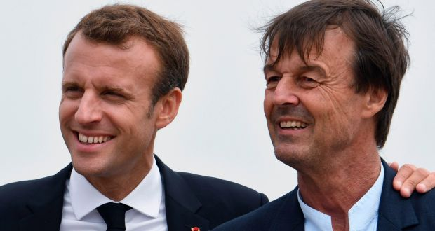 The resignation of ecology minister Nicolas Hulot  will be far more damaging for French president Emmanuel Macron than the loss of a minister would normally be. Photograph: Fred Tanneau/ AFP/Getty Images