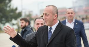 Kosovo PM Ramush Haradinaj warned against any land swap with Serbia. Photograph: Armend Nimani/AFP/Getty Images