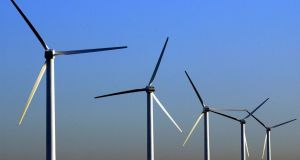 The State adds the levy to all electricity bills to pay for price supports given to renewable energy generators, such as wind farms. Photograph: PA