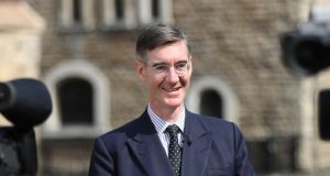 Jacob Rees-Mogg was widely rebuked for a 2016 clip of him proposing to 'continue historic arrangements . . . just as we had during the Troubles to have people inspected'. Photograph: Simon Dawson/Reuters
