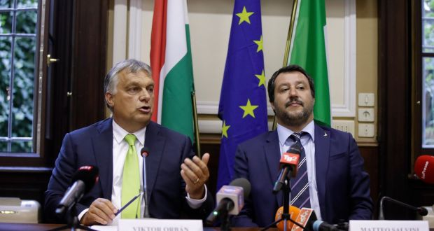 Italy S Interior Minister And Deputy Prime Matteo Salvini Right With Hungary