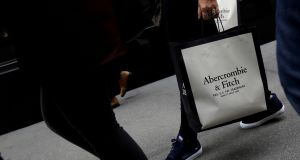Shares in Abercrombie & Fitch slumped on Thursday after it failed to take full advantage of an unusually long summer in Europe
