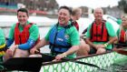 Pat Gunne, chief executive of Green Reit, and his team competing in the Dragons at the Docks event in Dublin