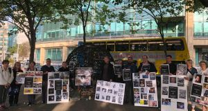 The mass detention and torture of innocent people during the Syrian civil war has turned into a 'massacre', people gathered at a vigil in Dublin were told. Photograph: Sorcha Pollak