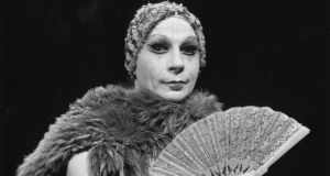 Dancer and choreographer Lindsay Kemp  in the play 'Flowers' which is based on the work of Jean Genet.  Photograph:  Ronit Schoen/Evening Standard/Getty