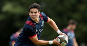 Joey Carbery starts on the bench for Munster's Pro14 opener against the Cheetahs. Photograph: Oisin Keniry/Inpho