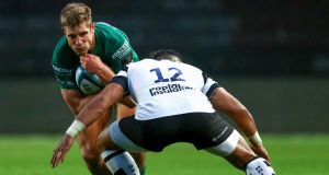 Kyle Godwin will make his competitive Connacht debut against Glasgow on Saturday. Photograph: James Crombie/Inpho