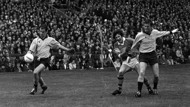 Tony Hanahoe in action for Dublin against Kerry during the 1975 All-Ireland final. Photograph: Connolly Collection/Sportsfile