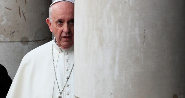 Pope Francis during his visit to Dublin last Saturday. The group expected a half an hour maximum, but the pope heard them out for an hour and a half. Photograph: Gonzalo Fuentes/Reuters