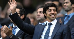 Manchester city owner Sheikh Mansour bin Zayed Al Nahyan.  Ten  years after he bought the club, they have been  transformed the club from a national punchline to the kings of English football. Photograph: Andrew Yates/AFP/Getty