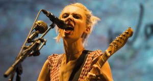 Wolf Alice: Ellie Rowsell, the band's lead singer, is the linchpin that holds it all together. Photograph: Dave Meehan