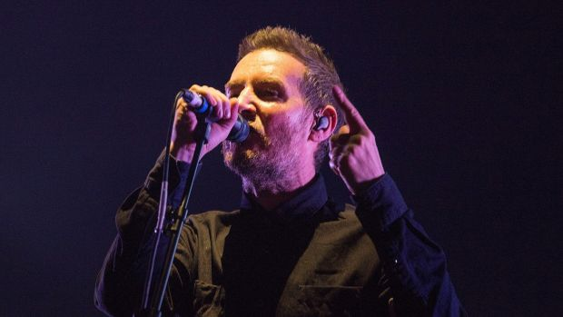 Massive Attack: Robert Del Naja on stage on Saturday night. Photograph: Dave Meehan