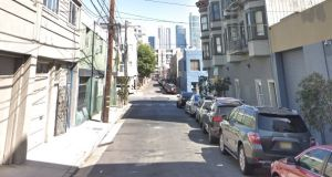 A general view of Clara Street in the South of Market area of San Francisco, where Briann Egg lived. Image: Google Streetview.