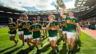 Kerry minors celebrate their All-Ireland final win over Galway. Photograph: Tommy Dickson/Inpho