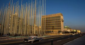 US embassy in Havana: Diplomats reported strange noises and symptoms doctors say may have resulted from strikes with microwave weapons. Photograph: Meridith Kohut/The New York Times