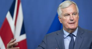 The EU's chief Brexit negotiator Michel Barnier has said he is 'strongly opposed' to key parts of Theresa May's proposals for a post-withdrawal trade deal. Photograph: Jasper Juinen/Bloomberg.