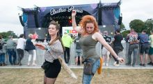 Ways of the Festival: Emer Moloney, from Thurles, and Tara Byrne, from Cork, at Electric Picnic on Sunday. Photograph: Dave Meehan