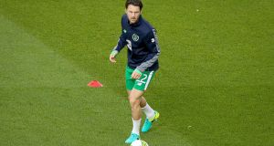 Harry Arter: had a falling out with Republic of Ireland assistant manager Roy Keane. Photograph: Oisín Keniry/Inpho