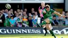 Connacht's Craig Ronaldson kicks a late penalty to win the game that narrowly missed. Photograph: James Crombie/Inpho