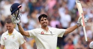 Alastair Cook will retire from international cricket after England's final Test against India at th Oval. Photograph: William West/AFP