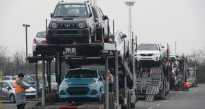 The number of imported used cars registered for the first time in the Republic reached 68,784 at the end of last month, up 10.7 per cent on last year. Photograph: David Hecker/Getty Images