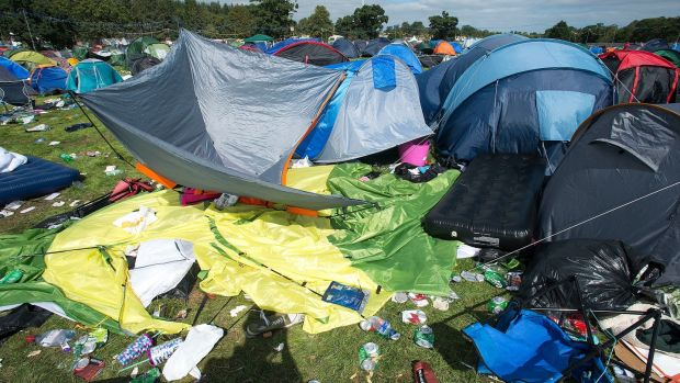 Monday afternoon campsite at Electric Picnic. Photograph: Dave Meehan