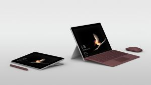 The Surface Go  slots in below the Surface laptop and Surface Pro in the  family of devices