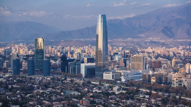 Financial district in Santiago, Chile. 'Chile consistently ranks as one of the most unequal countries in the world in terms of income.'