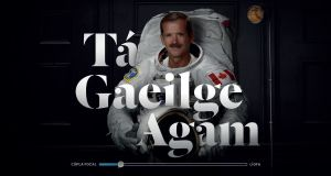 Well-known figures such as former astronaut Chris Hadfield are featured in TG4's 'Tá Gaeilge Agam' campaign