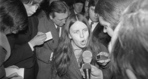The first lecture will be delivered by Bernadette McAliskey, who was a prominent civil rights campaigner and, as Bernadette Devlin, the youngest woman elected to Westminster. Photograph:  Frank Barratt/Keystone/Getty Images