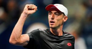World number 50 John Millman beat Roger Federer in four sets in New York to reach the US Open quarter-finals. Photograph: Eduardo Munez Alvarez/AFP/Getty