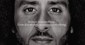 Colin Kaepernick is the face of Nike's new 'Just Do It' campaign. Photograph: Colin Kaepernick/Twitter