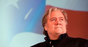 Steve Bannon was removed from the festival. Photograph:  Michal Cizek/AFP/Getty Images