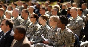 Female participation in the US army accounts for 15 per cent of those in active duty and 19 per cent of their reserve forces. Photograph: Chip Somodevilla/Getty Images