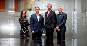 Kernel investment analyst Helen Norris, Sytorus chief executive John Ghent, Enterprise Ireland development advisor Peter Lennox and Bank of Ireland senior director Donal Duffy.
