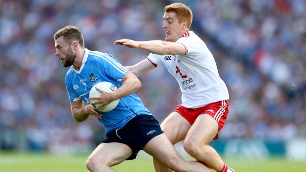 Dublin's Jack McCaffrey and Peter Harte have both had terrific seasons. Photograph: Inpho