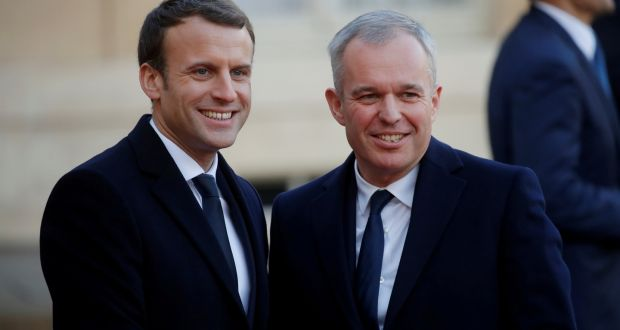 Emmanuel Macron With National Assembly Speaker François De Rugy. Mr Macron  Replaced Ecology Minister Nicolas