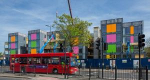 Four-storey modular apartments in Lewisham, London. Dublin City Council has plans to construct 'close to 1,000 rapid-build apartments' for social housing at different locations throughout the city.