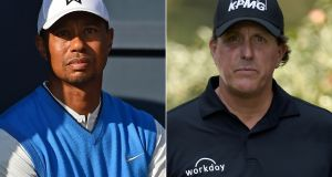 Tiger Woods and Phil Mickelson have both been named as Ryder Cup wild card picks. Photograph: Getty Images