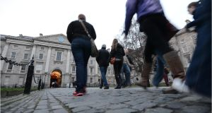 Trinity College Dublin is ranked in 46th spot globally, up two places compared with 2017. Photograph: Dara Mac Dónaill