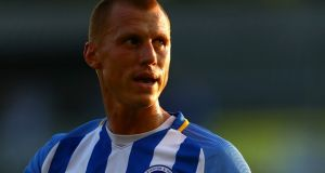 Steve Sidwell in action for Brighton & Hove Albion in July 2017. Photograph:  Dan Istitene/Getty Images