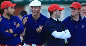 Bryson DeChambeau during the 2015 Walker Cup at Royal Lytham and St Annes. Photograph: Getty Images