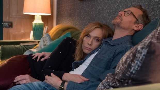 Toni Collette (Joy) and Steven Mackintosh (Alan) in 'Wanderlust'
