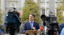 Minister for Finance Paschal Donohoe launching  Ireland's Corporate Tax Roadmap at Government Buildings yesterday. The brutal political reality facing Leo Varadkar is that once the budget is out of the way, he will continue in office for only as long as the Opposition decides. Photograph: Dara Mac Dónaill