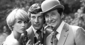 Joanna Lumley, Gareth Hunt and Patrick MacNee in publicity photographs for The New Avengers. Photograph: Central Press/Getty Images