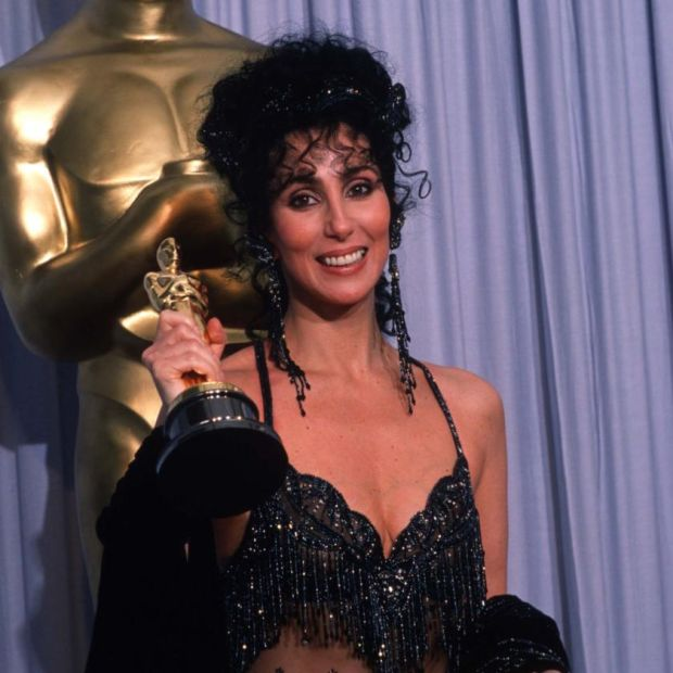 Academy Award: Cher with her best-actress Oscar, for Moonstruck, in 1988. Photograph: John Barr/Liaison/Getty