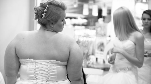 """A friend had so much difficulty finding a dress that she questioned whether she deserved to be a bride."" Photograph: iStock"
