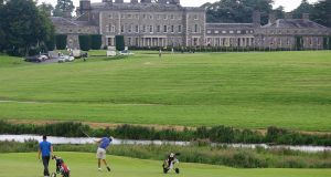 Robin Dawson has put Ireland firmly in contention at Carton House. Photograph: Lorraine O'Sullivan/Inpho