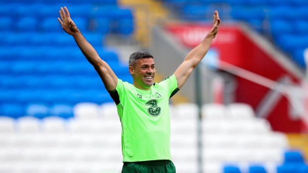 Jon Walters is expected to lead the line for Ireland in Cardiff. Photograph: Ryan Byrne/Inpho